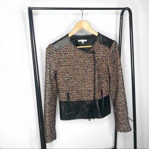 Rebecca Minkoff Ansel Tweed Leather Jacket
